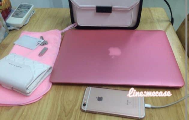Combo Case/Ốp Macbook Màu Hồng