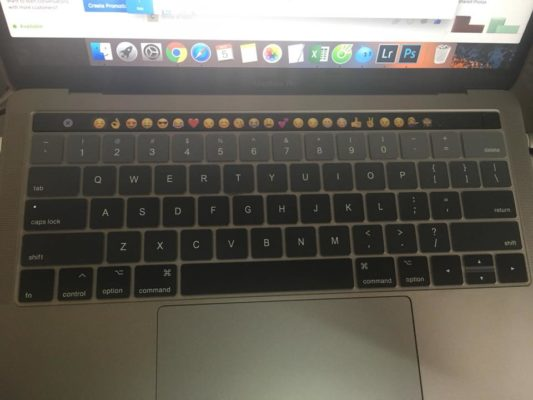Lót/phủ phím Macbook Touchbar 13/15 inch 2016 - 2017