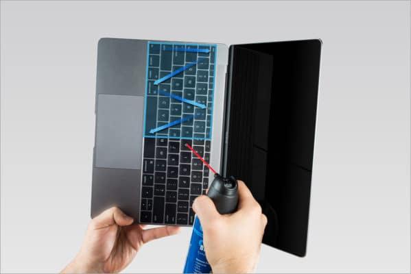 Bình xịt khí nén vệ sinh bàn phím Macbook4
