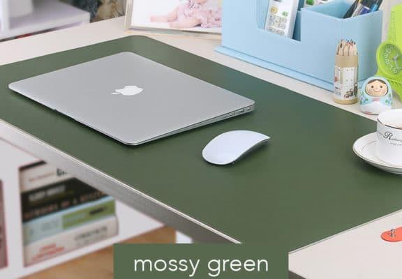 Thảm da trải bàn Deskpad màu xanh rêu