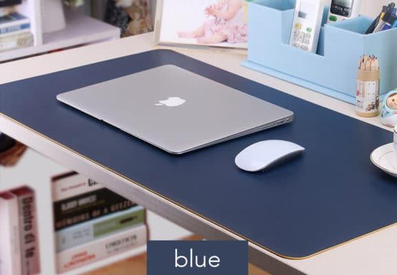 Thảm da trải bàn Deskpad màu xanh dương