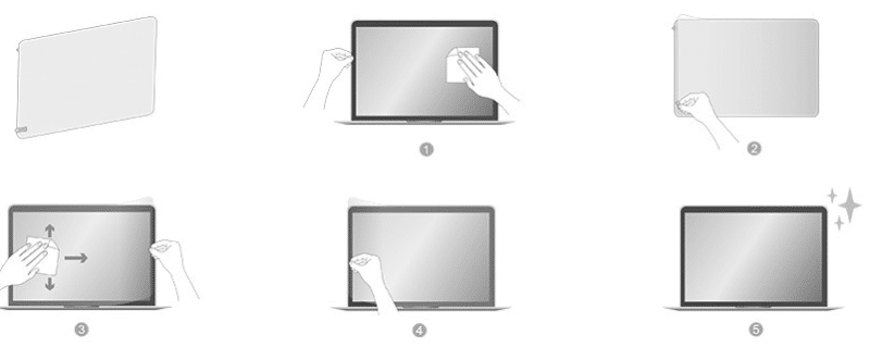 Các bước dán màn hình Macbook JCPAL iClara