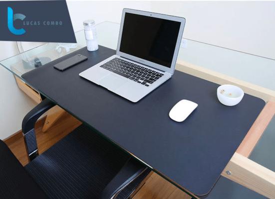 Thảm da trải bàn Deskpad màu đen