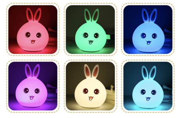 đèn led thỏ 6 màu
