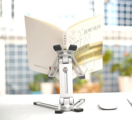 Stand/Giá đỡ kê cao Nhôm nguyên khối Jincomso hình cánh bướm dành cho iPad, iPhone