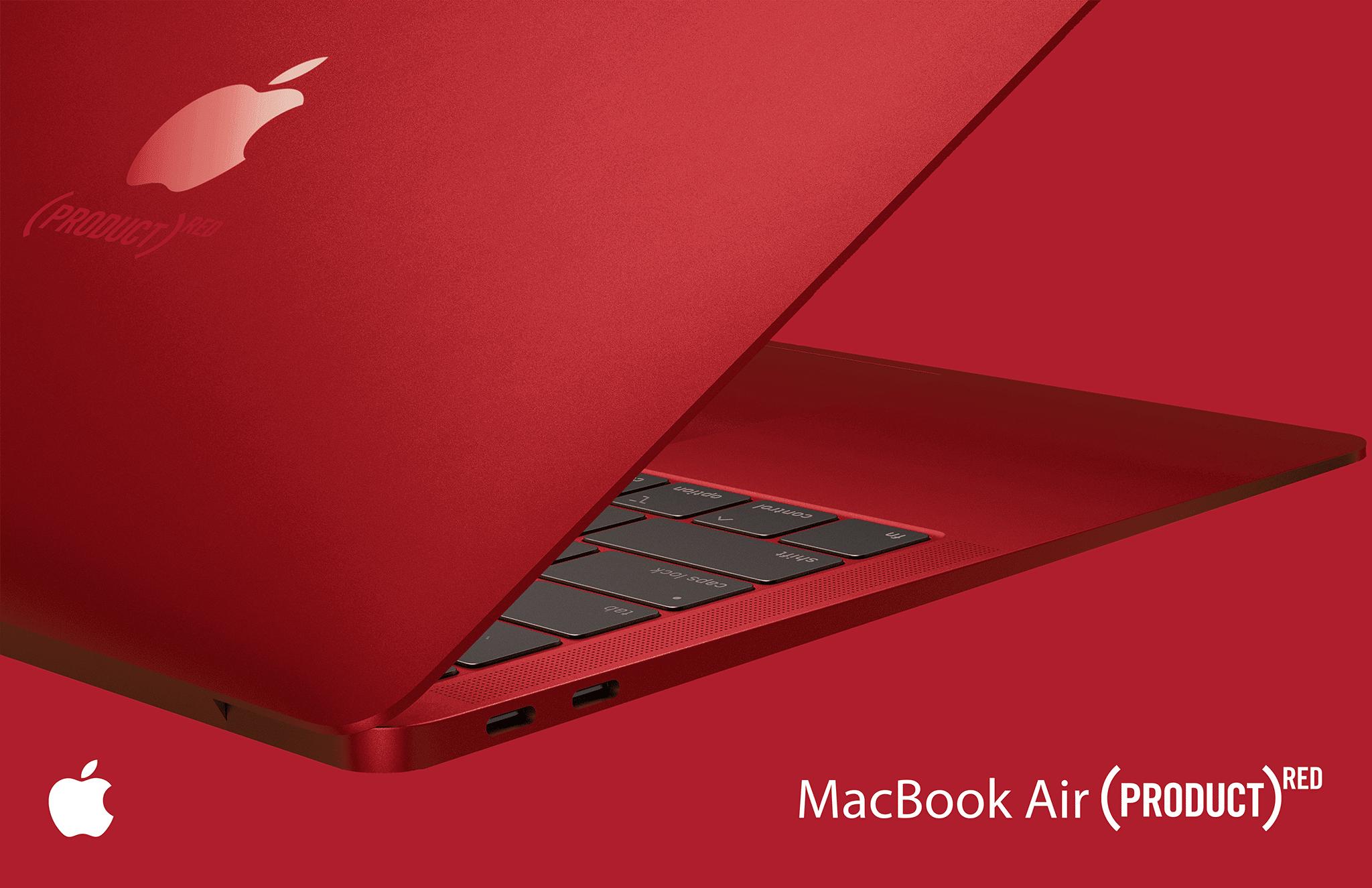 Nếu Apple sản xuất một chiếc MacBook Air (PRODUCT) RED như thế này bạn có mua không? - Lucas Combo